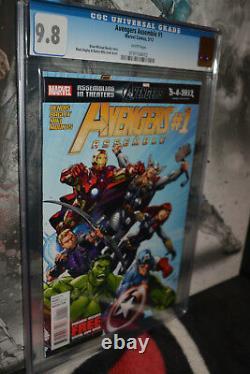 Avengers Assemble # 1 CGC 9.8 White Pages Hulk New Zodiac Not CBCS