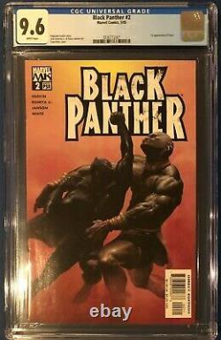 Black Panther #2 May 2005 1st Shuri CGC 9.6 NM+ White Pages Marvel Comics