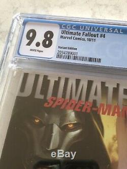 CGC 9.8 WHITE PAGES Ultimate Fallout #4 Djurdjevic Variant 1st App Miles Morales