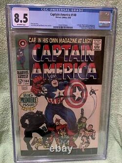 Captain America #100 CGC 8.5 1968 Off White pages 1st Issue! Black Panther