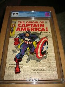 Captain America # 109 CGC 9.2 White Pages Jack Kirby Cover Marvel