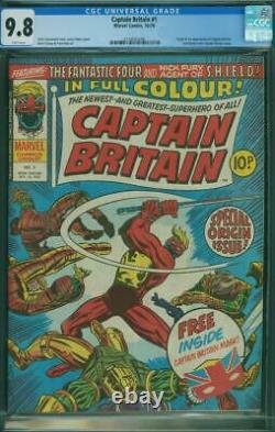 Captain Britain #1 CGC 9.8 NM/MT White Pages Origin 1st Appearance 1976