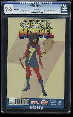Captain Marvel (2014) #17 CGC NM+ 9.6 White Pages 2nd Print 1st Kamala Khan