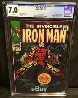 Cgc 7.0 The Invincible Iron Man #1 (5/1968) White Pages Marvel Origin Retold