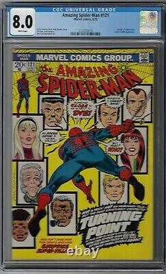 Cgc 8.0 Amazing Spider-man #121 Death Of Gwen Stacy 1973 White Pages