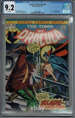 Cgc 9.2 Tomb Of Dracula #10 White Pages 1st Appearance Blade The Vampire Slayer