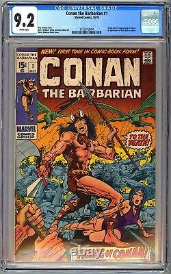 Conan The Barbarian #1 Cgc 9.2 White Pages Nm- 1970 Barry Windsor-smith