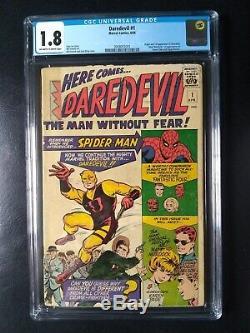 DAREDEVIL #1 CGC 1.8 (1964) ORIGIN, Off-White to White pages