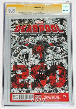 DEADPOOL #45 CGC 9.8 SS Signed by STAN LEE, White Pages, Death of Deadpool 250