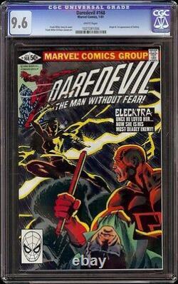 Daredevil # 168 CGC 9.6 White (Marvel, 1981) 1st appearance of Elektra