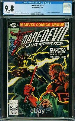 Daredevil #168 CGC 9.8 NM/MT White Pages 1st app/origin of Elektra