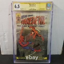 Daredevil #16 Cgc 6.5 Ss Signed Stan Lee Spider-man Crossover White Pages