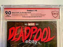 Deadpool #45 150 Run The Jewels Variant CBCS Red Label 3X Signed White Pages
