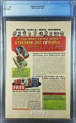FANTASTIC FOUR 67 1967 1st App Him/Adam Warlock CGC 8.5 VF+ WHITE! 2061904005