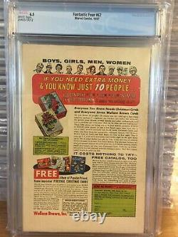 FANTASTIC FOUR #67 CGC 6.5 WHITE PAGES GOTG 31st HIM (WARLOCK) MARVEL