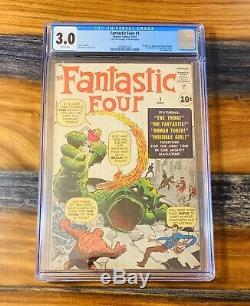 Fantastic Four 1 CGC 3.0 ORIGIN & 1st APP! MOLEMAN! White Pages! WOW