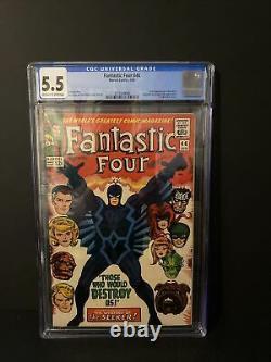 Fantastic Four #46 Cgc 5.5 1st Appearance Black Bolt Inhumans Off-white White