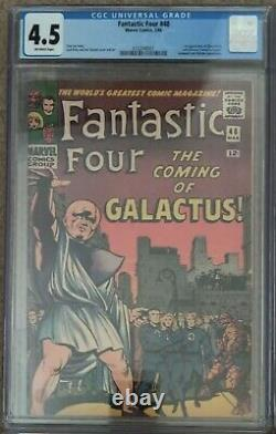 Fantastic Four 48 CGC 4.5 Off-White Pages 1st Silver Surfer Marvel MCU 1966