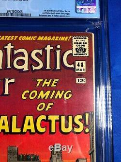 Fantastic Four 48 CGC 6.5 WP 1st Galactus! 1st Silver Surfer! White Pages