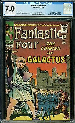Fantastic Four 48 CGC 7.0 1st SILVER SURFER & GALACTUS 2113963004 O/White Pages