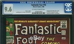 Fantastic Four 48 CGC 9.6 1st SILVER SURFER & GALACTUS 1226624003 owith WHITE Pgs