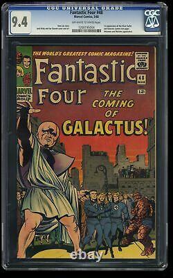 Fantastic Four #48 CGC NM 9.4 Off White to White 1st Galactus Silver Surfer