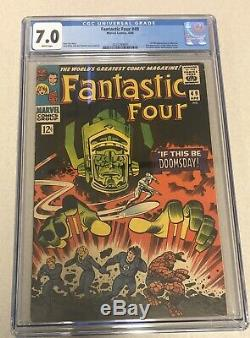 Fantastic Four 49 CGC 7.0 1st Full Galactus Rare White Pages Hot Marvel Key