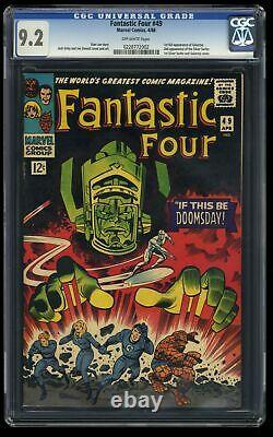Fantastic Four #49 CGC NM- 9.2 Off White 2nd Silver Surfer! 1st Full Galactus