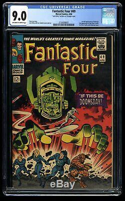Fantastic Four #49 CGC VF/NM 9.0 Off White to White Signed by Jack Kirby