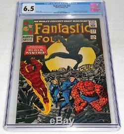 Fantastic Four #52 CGC 6.5 1st Black Panther Comic Appearance T'Challa WHITE PGS