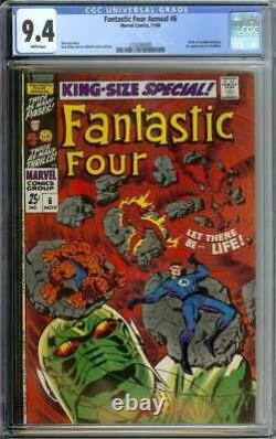 Fantastic Four Annual #6 Cgc 9.4 White Pages // 1st Appearance Annihilus 1968