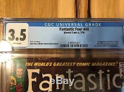 Fantastic four 48 (Silver Surfer!) CGC 3.5 WHITE