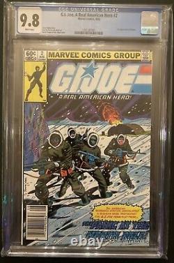 GI Joe #2 CGC 9.8 Newsstand White Pages 1982 1st Appearance Kwinn Marvel Comics