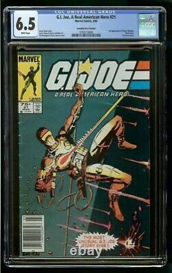 G. I. JOE #21 CGC 6.5 1st STORM SHADOW CANADIAN PRICE VARIANT CPV WHITE PAGES