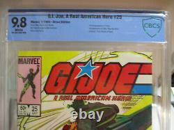 G. I. Joe A Real American Hero #25 Cbcs 9.8 White Pages 1st Zartan Marvel Not Cgc