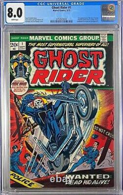 Ghost Rider #1 CGC 8.0 1st Daimon Hellstrom Son of Satan WHITE PAGES