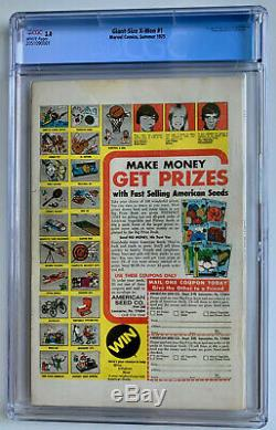 Giant Size X-Men #1 CGC 3.0 WHITE (1975) 1st Appearance the New X-Men