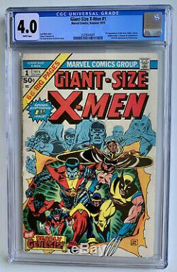 Giant Size X-Men #1 CGC 4.0 WHITE (1975) 1st Appearance the New X-Men! MCU