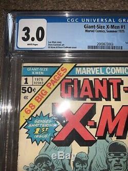 Giant-Size Xmen 1 CGC 3.0 WHITE Pagee