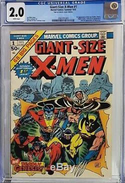 Giant-size X-men #1 Cgc 2.0 1st Storm Nightcrawler Colossus White Pgs Beautiful
