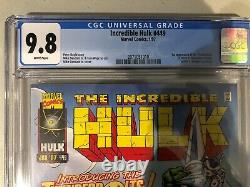 INCREDIBLE HULK 449 CGC 9.8 MARVEL 1997- WHITE PAGES 1st THUNDERBOLTS