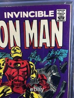 IRON MAN #1 1968 CGC 7.5 White Pages