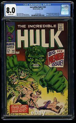 Incredible Hulk #102 CGC VF 8.0 Off White