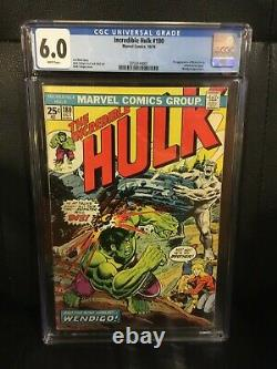Incredible Hulk 180 CGC 6.0 WHITE Pages Wolverine Cameo 1974