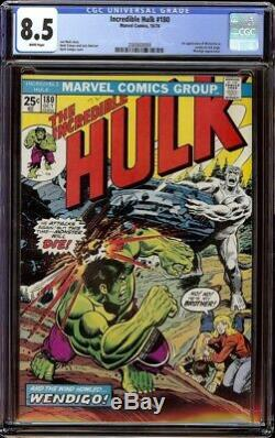 Incredible Hulk # 180 CGC 8.5 White (Marvel, 1974) 1st appearance Wolverine