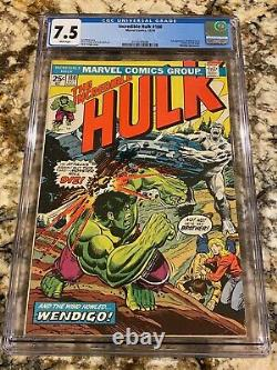 Incredible Hulk #180 Cgc 7.5 White Pages Unpressed B4 #181 1st Wolverine Cameo