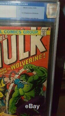 Incredible Hulk #181- CGC 1.8 off white pages- bronze age mega key 1st wolverine