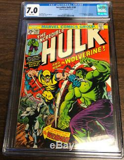 Incredible Hulk #181 CGC 7.0 WHITE PAGES 1st Appearance Of Wolverine GREAT COPY