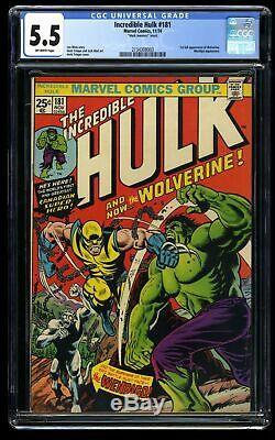 Incredible Hulk #181 CGC FN- 5.5 Off White Mark Jeweler's Insert