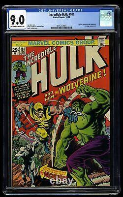 Incredible Hulk #181 CGC VF/NM 9.0 Off White to White 1st Wolverine